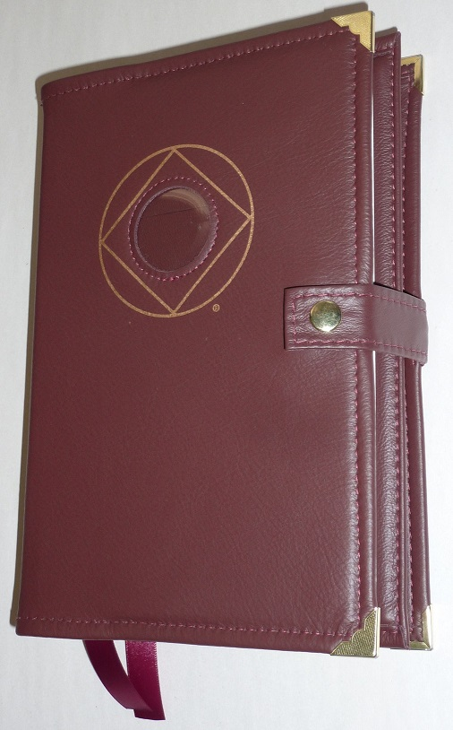 Image of Genuine LEATHER Deluxe Double Cover w/ NA Symbol & Medallion Holder